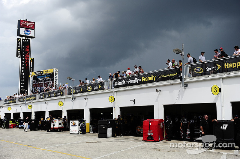 Daytona Beach, FL - Jul 03, 2014: The NASCAR Sprint Cup Series teams take to the track to practice