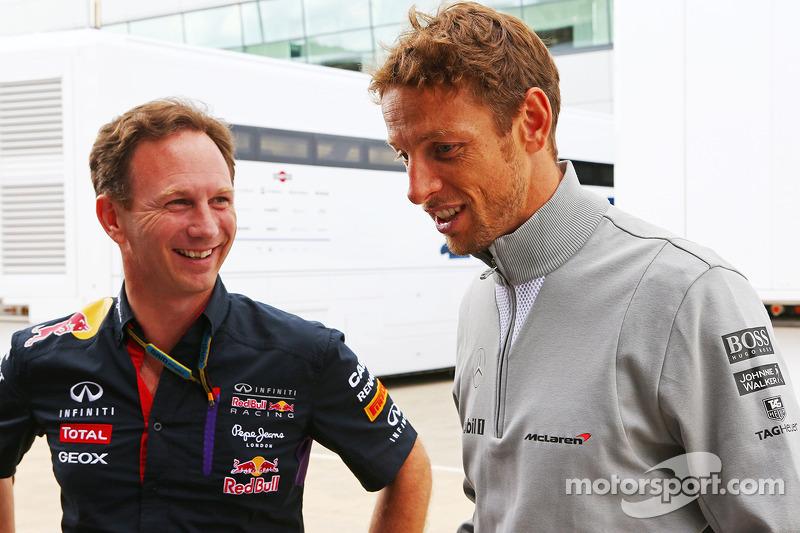 Christian Horner, Red Bull Racing Takım Patronu ve Jenson Button, McLaren