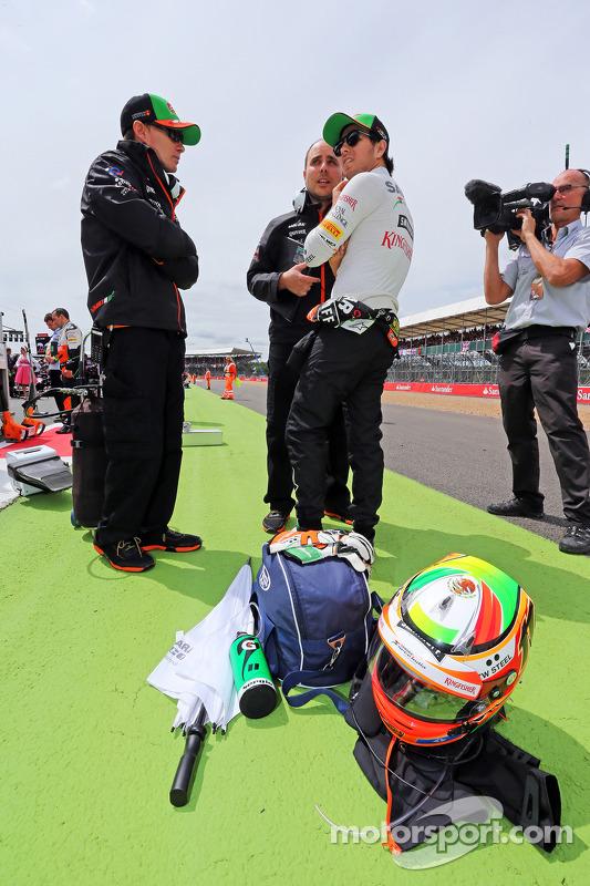 Sergio Perez, Sahara Force India F1, in griglia