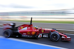 Pedro de la Rosa, Ferrari F14-T Development Driver leaves the pits