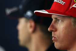 Kimi Raikkonen, Ferrari in the FIA Press Conference