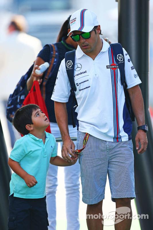 Felipe Massa, Williams with his son Felipinho Massa