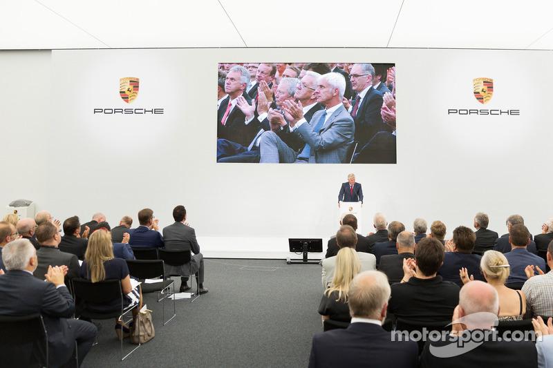 The opening of the Porsche development centre in Weissach