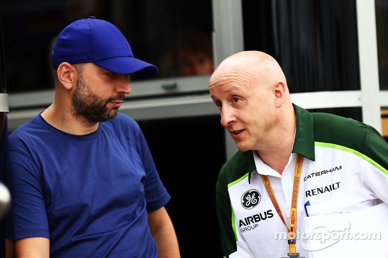 (L to R): Gerard Lopez, Lotus F1 Team Principal with Miodrag Kotur, Caterham F1 Team, Team Manager
