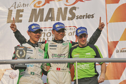 Winners Mathias Beche, Kevin Tse, Frank Yu