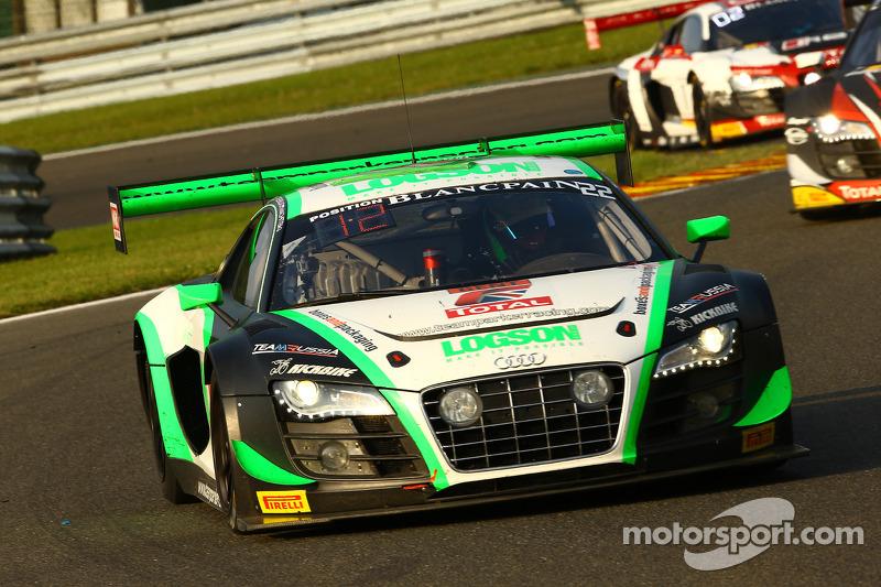 #22 Team Parker Racing Audi R8 LMS ultra: Ian Loggie, Leonid Machitski, Carl Rosenblad, Julian Westw