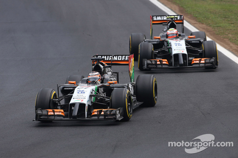 Nico Hülkenberg, Sahara Force India; Sergio Perez, Sahara Force India