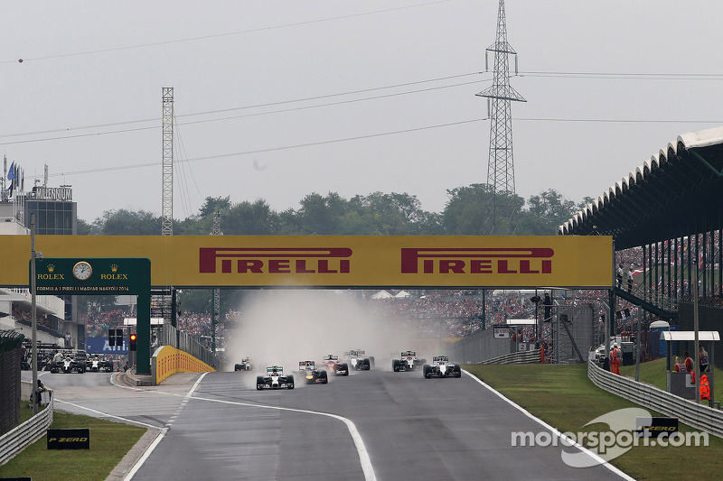 Largada da corrida Nico Rosberg, Mercedes AMG F1 Team