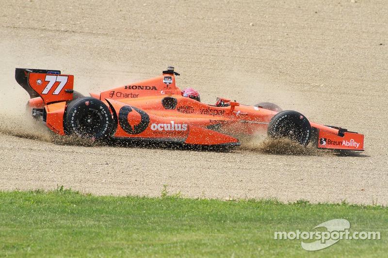 Simon Pagenaud, Schmidt Peterson Hamilton Motorsports Honda, incidente