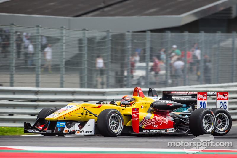 Dennis van De Laar, Prema Powerteam Dallara F312 Mercedes and Sean Gelael, Jagonya Ayam with Carlin