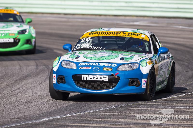 #26 Freedom Autosport 马自达 MX-5: 安德鲁·卡博内尔, 兰迪·普博斯特