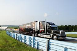 Hauler of Martin Truex Jr., Furniture Row Racing Chevrolet