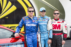 Carl Edwards, Aric Almirola and Greg Biffle