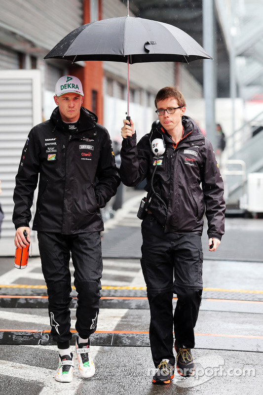 Nico Hülkenberg, Sahara Force India F1; Will Hings, Pressesprecher Sahara Force India F1