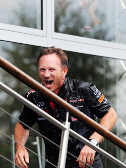 Christian Horner, Red Bull Racing Team Principal takes part in the ALS ice bucket challenge