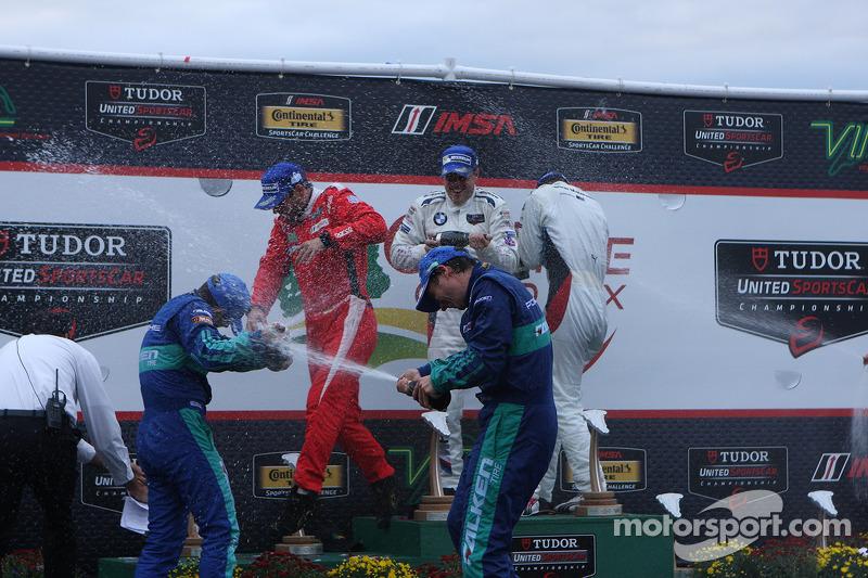 #62 Risi Competizione 法拉利 F458: 吉安卡洛·费斯切拉, 皮埃尔·卡费尔, #17 Team Falken Tire, 保时捷 911 GT3 RSR: 沃尔夫·亨泽尔, 布莱恩·塞勒斯, #56 宝马 Team RLL 宝马 Z4 GTE: 迪克·穆勒, 约翰·爱德华兹