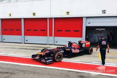 Testfahrten von Max Verstappen bei Toro Rosso
