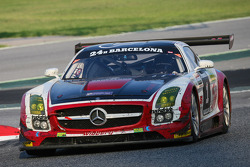 #1 Hofor Racing Mercedes SLS AMG GT3: Michael Kroll, Roland Eggimann, Kenneth Heyer, Christiaan Fran