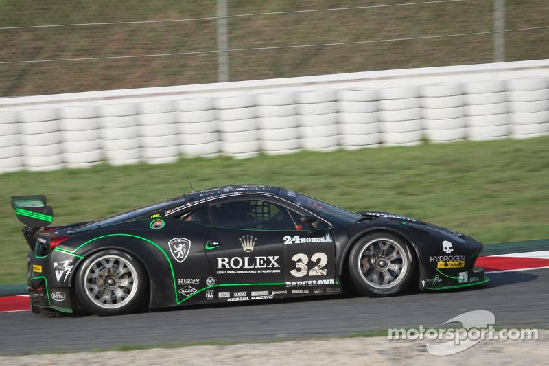 #32 Kessel Racing Ferrari 458 Italia GT3: Jonathan Sicart, Nicolas Cadei, Giacomo Piccini, Frederic