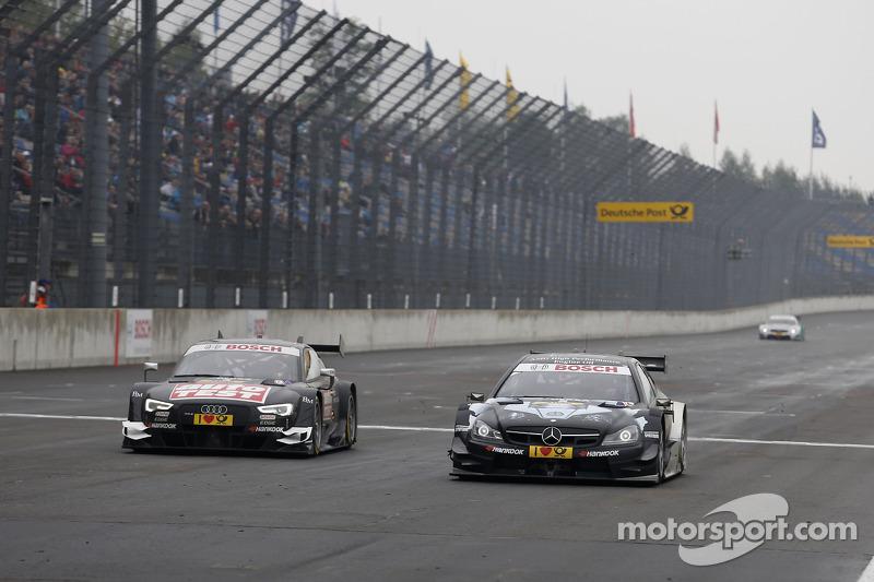 Timo Scheider, Audi Sport Team Phoenix Audi RS 5 DTM e Christian Vietoris, Mercedes AMG DTM-Team HWA DTM Mercedes AMG C-Coupé
