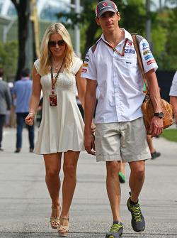 Adrian Sutil, Sauber ve kız arkadaşı Jennifer Becks