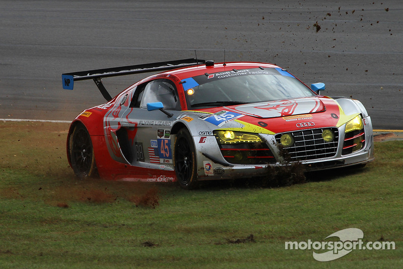 Problemi per # 45 Flying Lizard Motorsports Audi R8 LMS: Nelson Canache, Spencer Pumpelly, Andrew Pa
