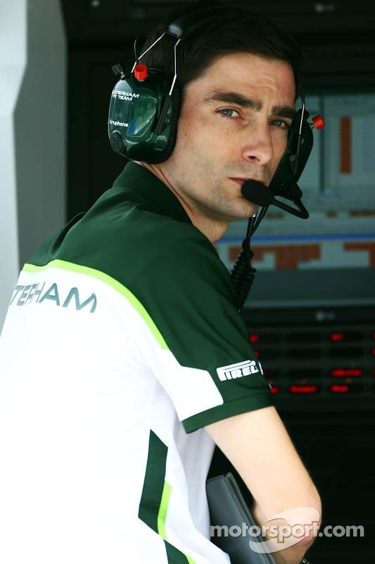 Angel Baena, engenheiro de corridas da Caterham F1 Team