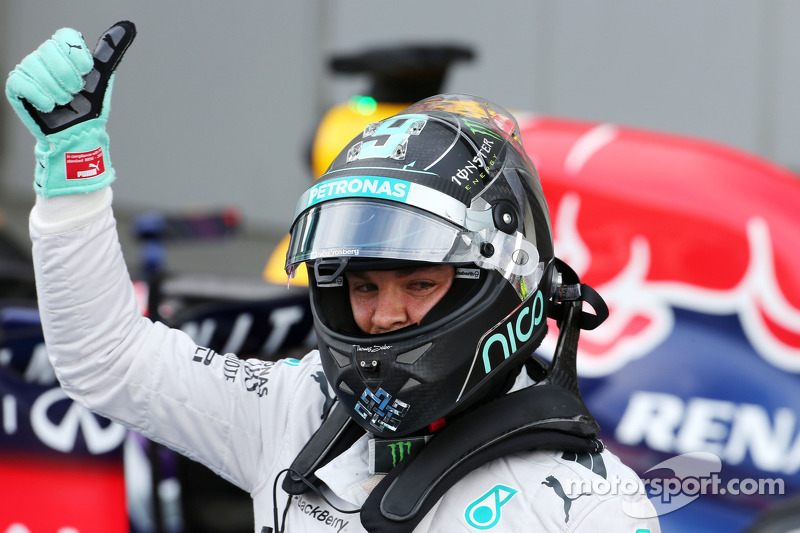 Pole position Nico Rosberg, Mercedes AMG F1