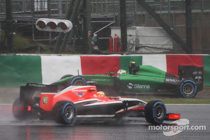 Dem Dreher von Marcus Ericsson kann Bianchi ausweichen, aber als ...