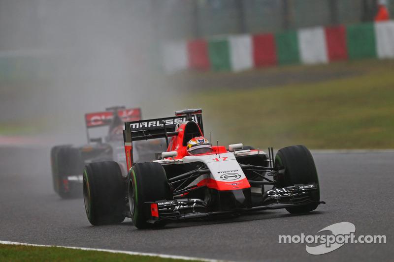 Адриан Сутиль и Жюль Бьянки. ГП Японии, Воскресная гонка.