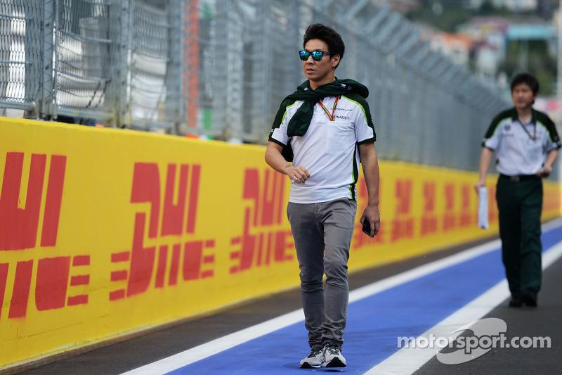 卡特汉姆F1车队的小林可梦伟走赛道