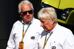 (L to R): Charlie Whiting, FIA Delegate with Herbie Blash, FIA Delegate