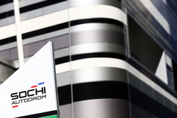 Sochi Autodrom sign in the paddock