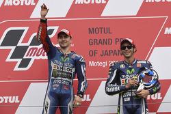 Podio: ganador de la carrera, Jorge Lorenzo, el tercer lugar Valentino Rossi
