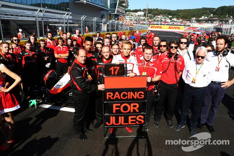 'Corriendo por Jules', Marussia corre en homenaje a Bianchi