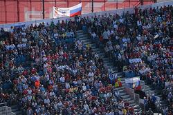 Fans dans la tribune