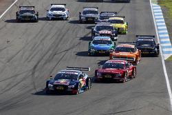 Yarışın startında, Mattias Ekstrom, Audi Sport Takımı Abt Sportsline, Audi A5 DTM