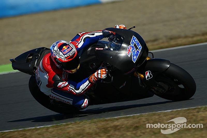 Casey Stoner Honda MotoGP testi