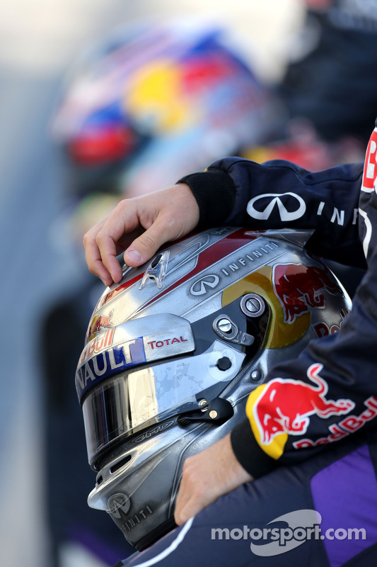 Casco di Sebastian Vettel, Red Bull Racing