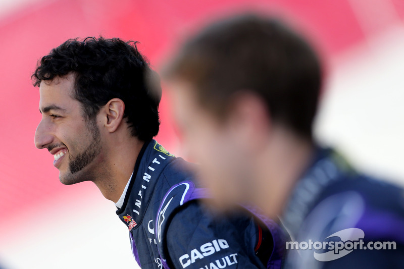 Daniel Ricciardo, Red Bull Racing and Sebastian Vettel, Red Bull Racing