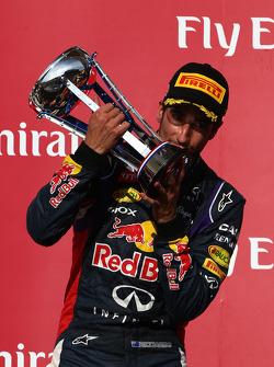 terceiro colocado Daniel Ricciardo, Red Bull Racing RB10