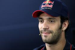 Jean-Eric Vergne lors d'une conférence de presse FIA