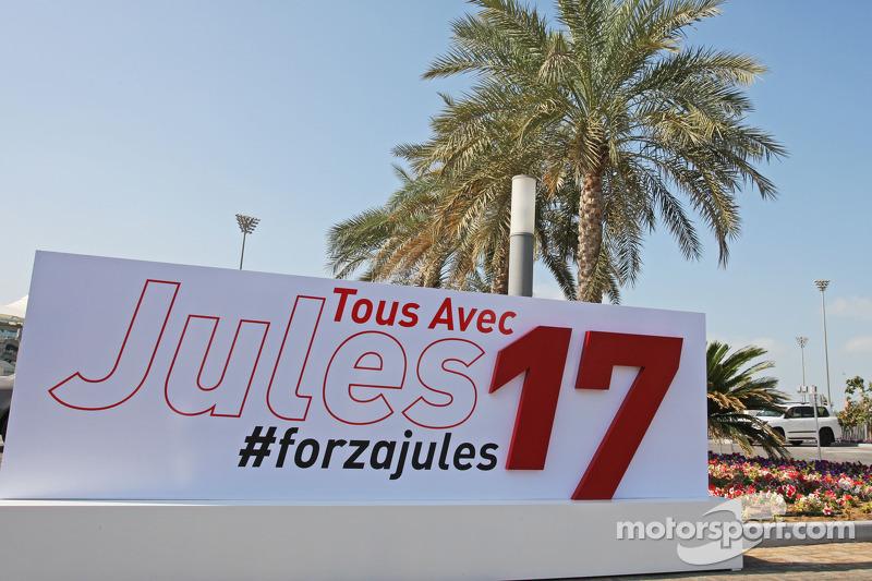 Mensaje de apoyo para Jules Bianchi