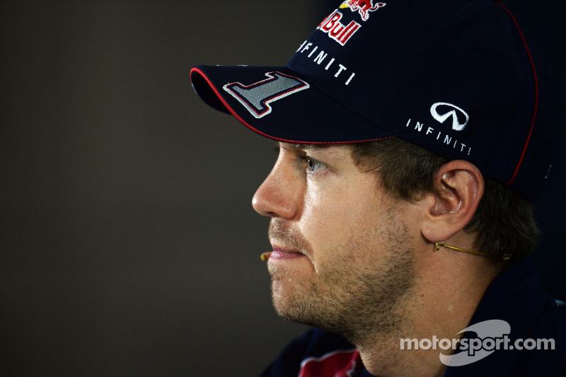 Sebastian Vettel, Red Bull Racing En la rueda de prensa de la FIA
