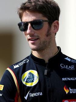 Romain Grosjean, pilota francese del Lotus F1 team