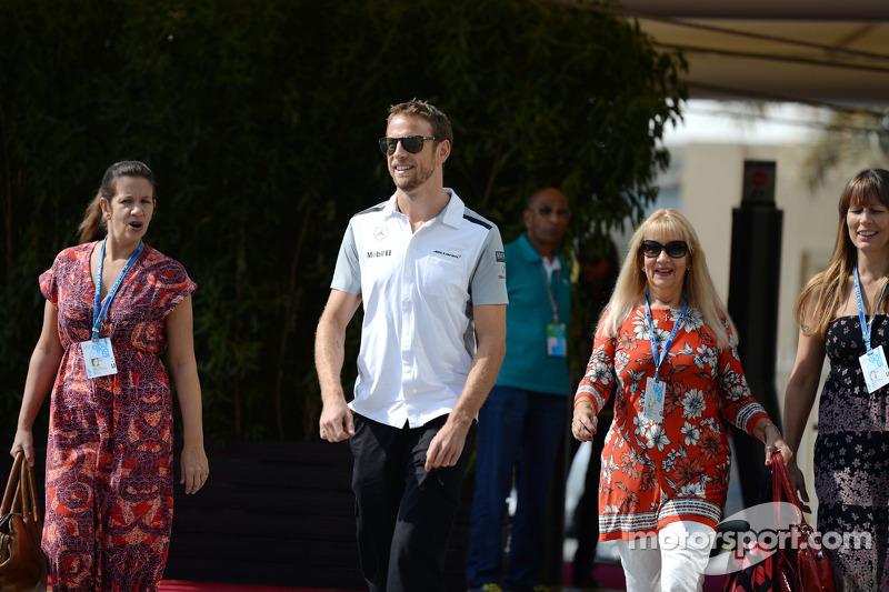 Jenson Button, McLaren con la sua famiglia