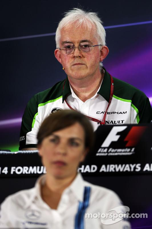 Finbarr O'Connell, Caterham F1 Takımı Yöneticisi ve Claire Williams, Williams Yardımcı Takım Patronu FIA Basın Konferansı'nda