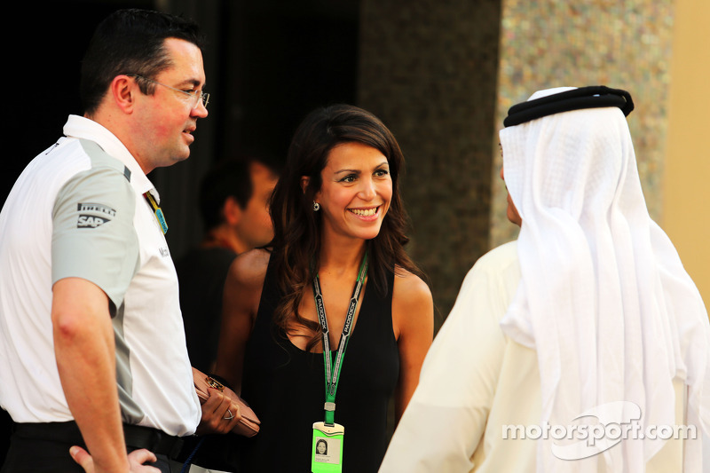 Eric Boullier, McLaren Racing Director with his wife Tamara Boullier