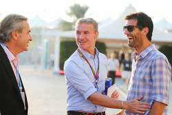 (L to R): Carlos Sainz, with David Coulthard, Red Bull Racing and Scuderia Toro Advisor / BBC Television Commentator and Mark Webber, Porsche Team WEC Driver