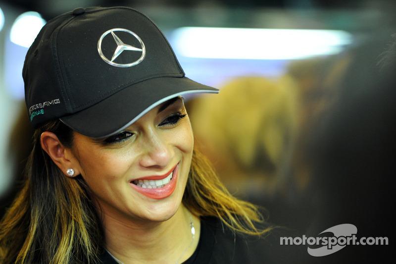 Nicole Scherzenger, cantante y novia de Lewis Hamilton, Mercedes AMG F1